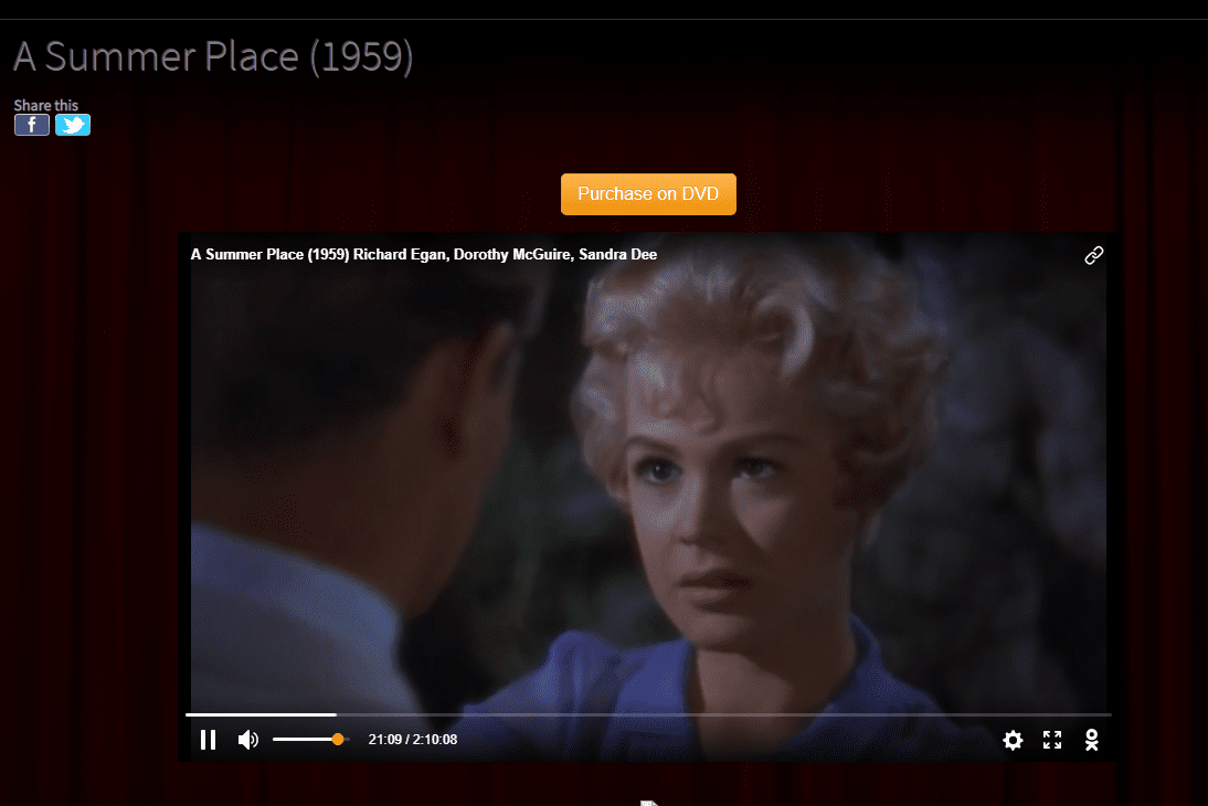 Classic Cinema Online drama movie A Summer Place
