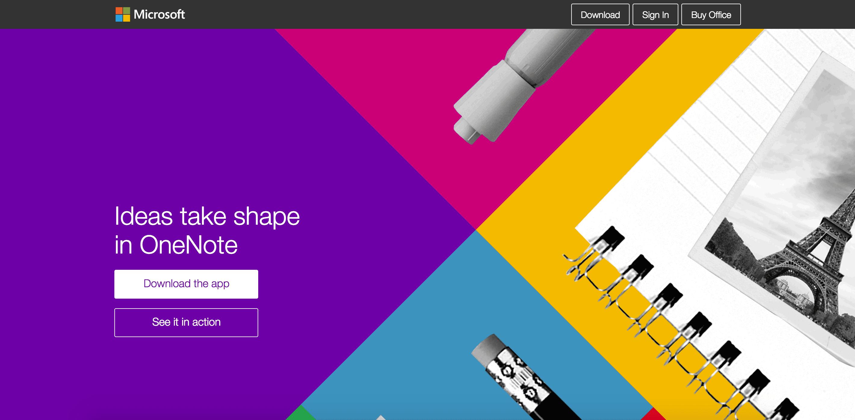 OneNote website