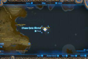 Chass Qeta Shrine location in Zelda: BOTW