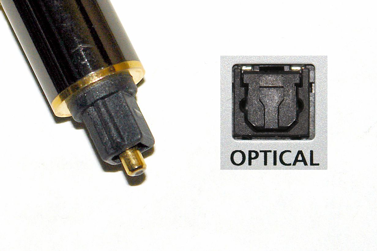Example of a Digital Optical Cable Tip and Connection