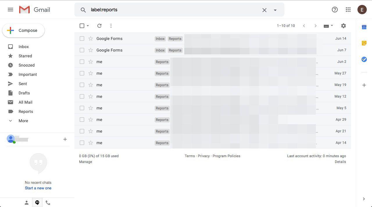 Bookmark Gmail searches