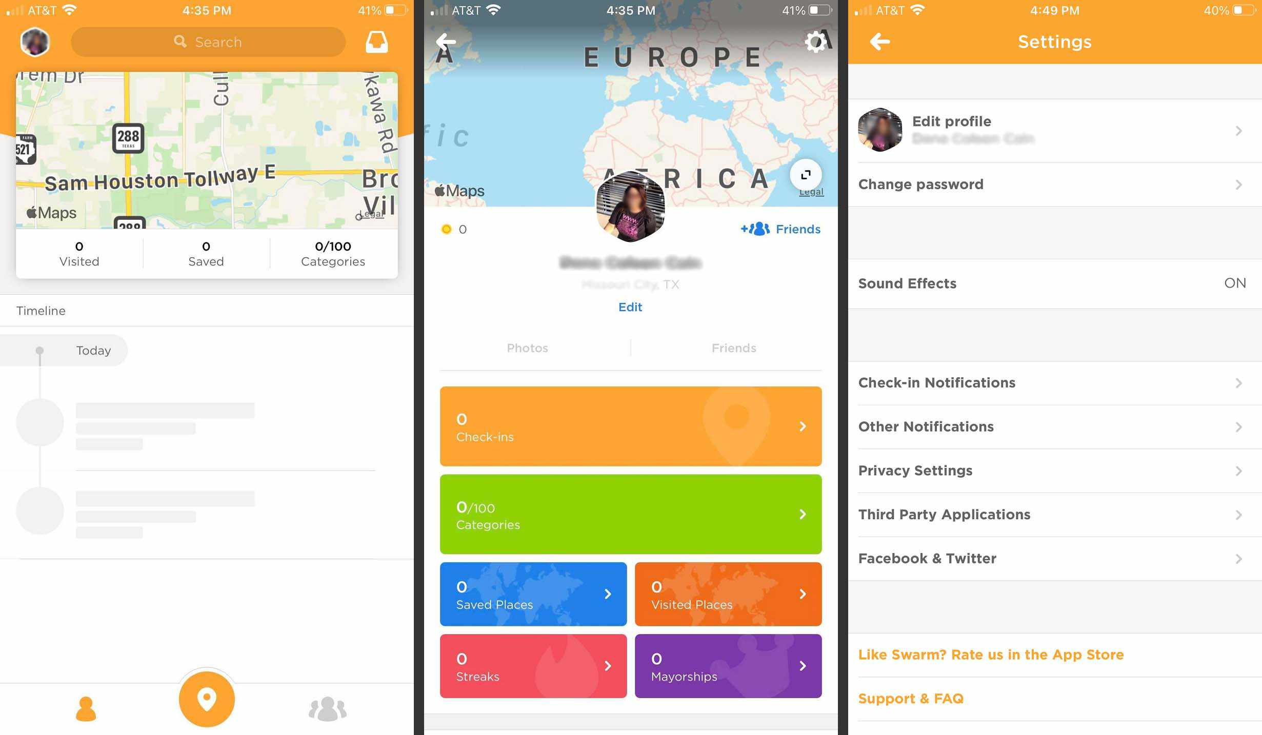 Profile and Privacy Settings on Swarm.