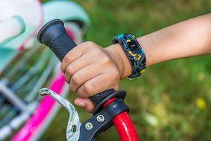 Garmin vívofit jr 2 wearable for kids on child's wrist