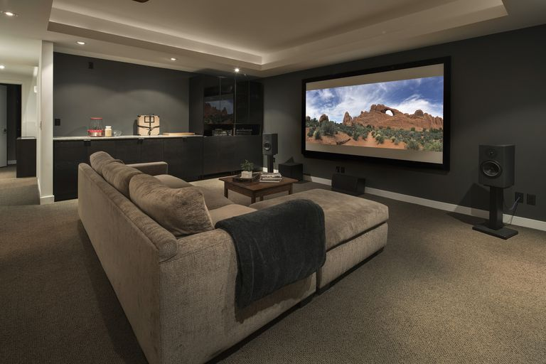 A home theatre set up