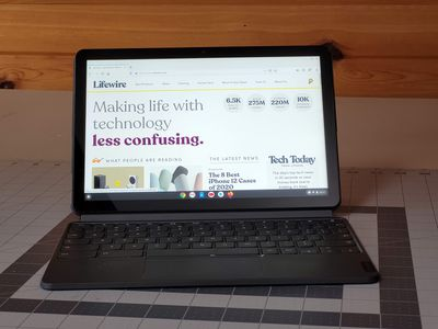 Firefox running on a Lenovo Duet Chromebook