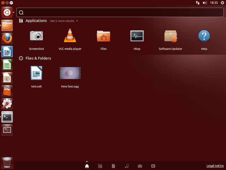 Screenshot of Ubuntu Linux desktop