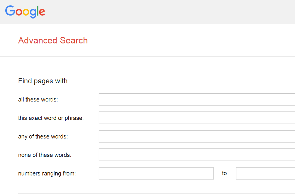 What Are Advanced Search Options?