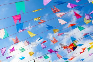 Festa junina in Brazil is time to have fun with colorful flags