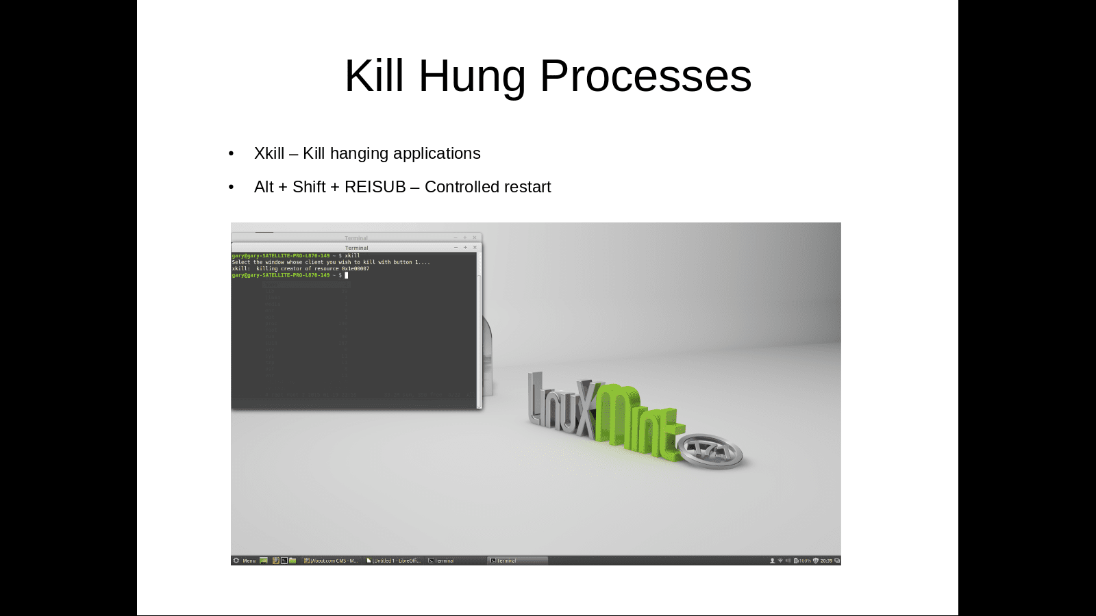 Kill Hung processes with XKill