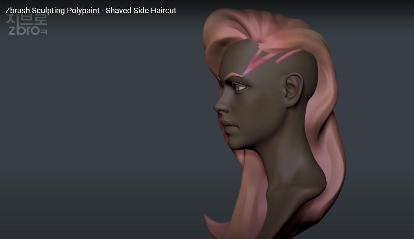 Z broz YouTube Channel - Zbrush Sculpting Polypaint Tutorial
