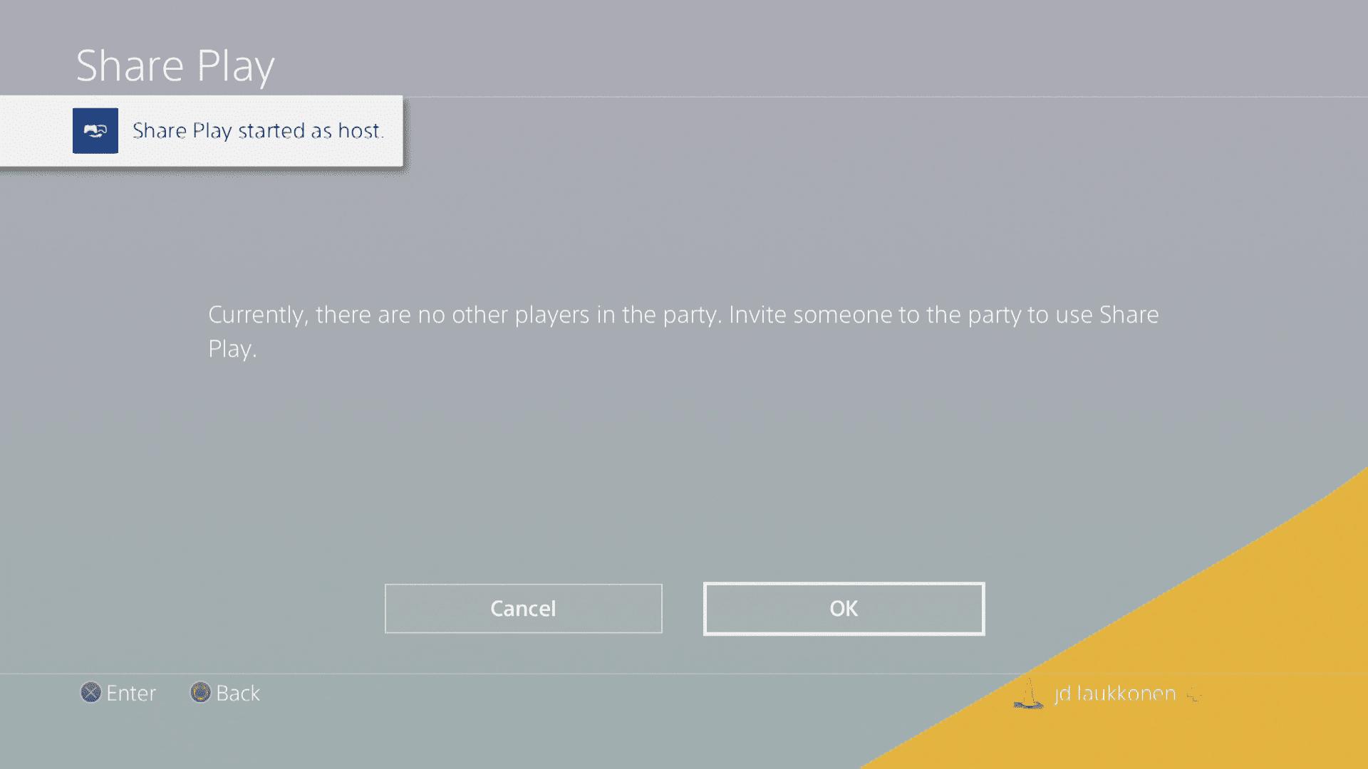 A screenshot of Share Play.