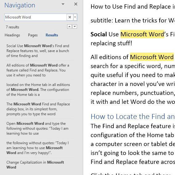 How to Use Find and Replace in Word