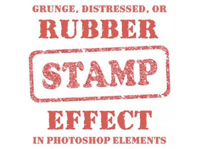 A rubber stamp made in Photoshop Elements.