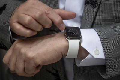 Apple Watch on a man's wrist