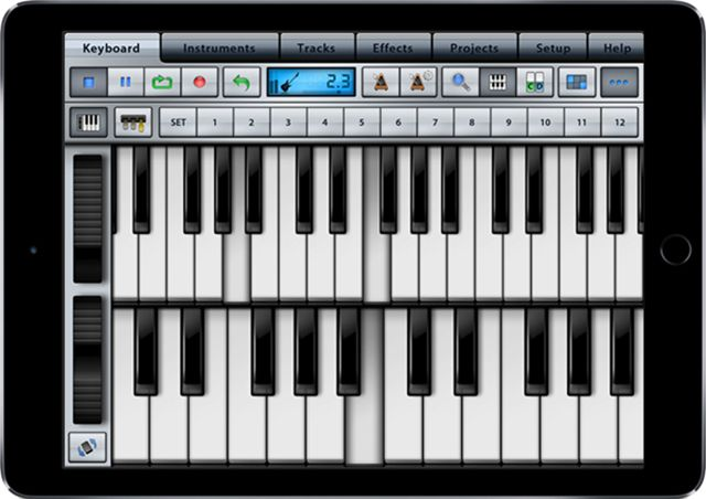 The Music Studio app for iPad