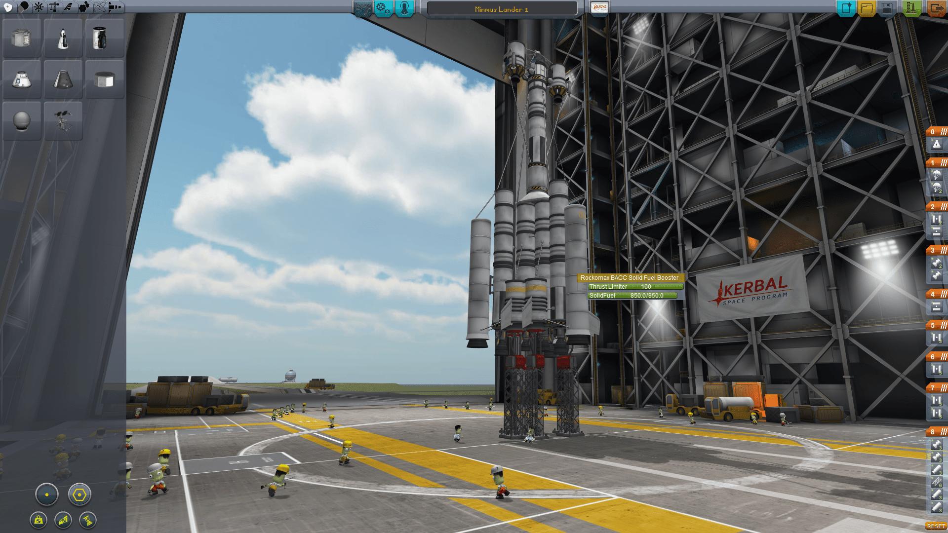 building a rocket kerbal space program