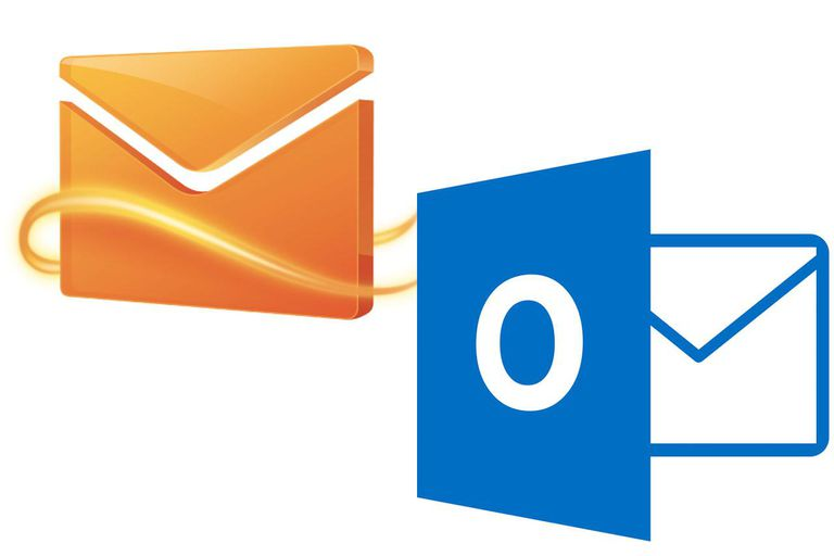 The Hotmail and Outlook logos.