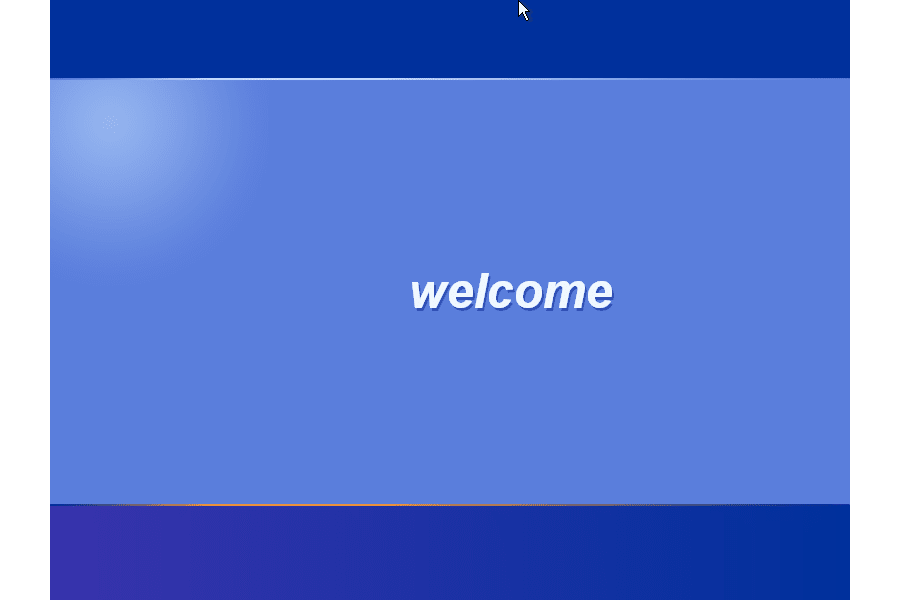 Screenshot of the Welcome screen during the Windows XP startup process