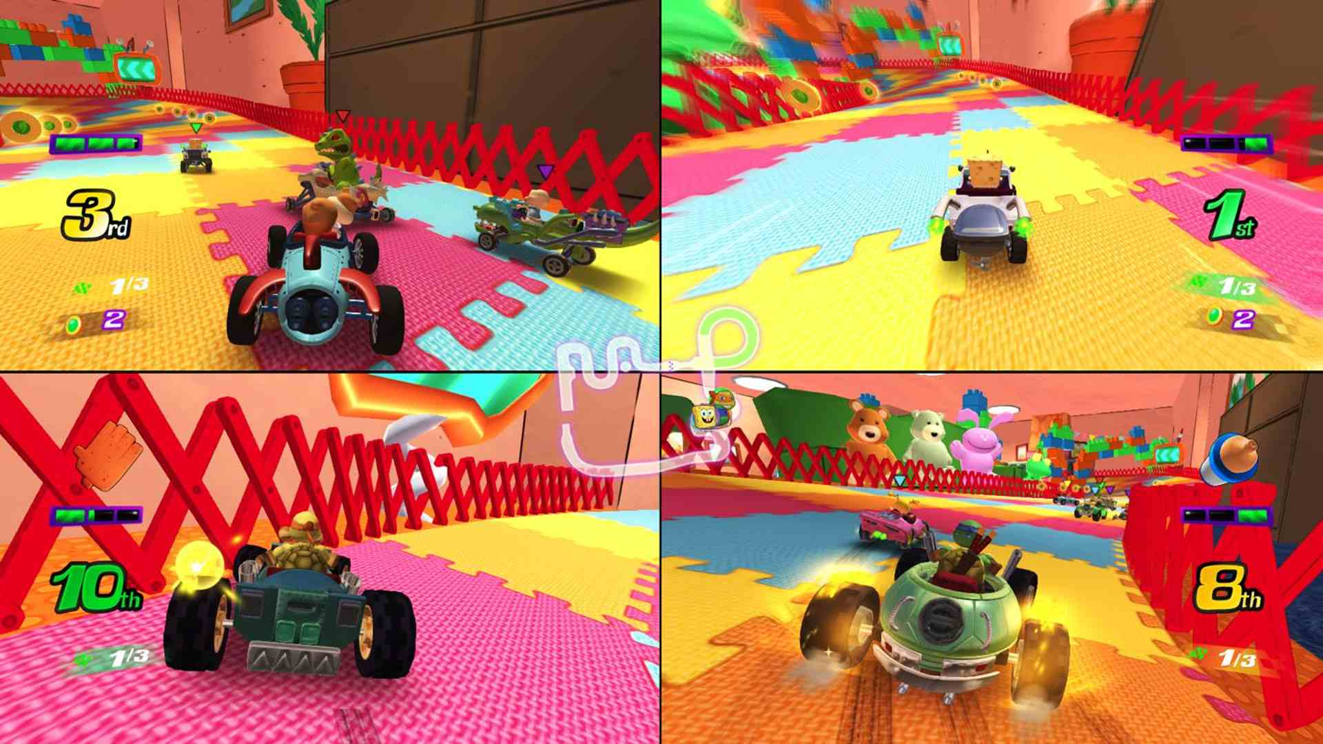 Nickelodeon: Kart Racers video game on Xbox One, Nintendo Switch, and PS4.