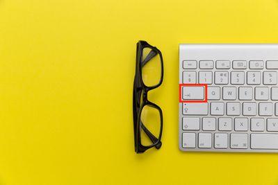 Tab key on keyboard