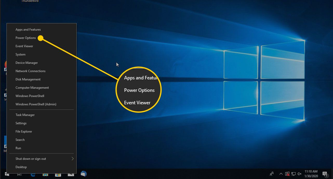 Power Options in Windows