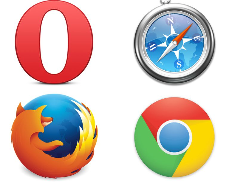 Icons of commons browsers.