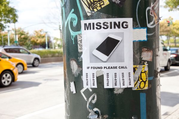 lost cell phone poster