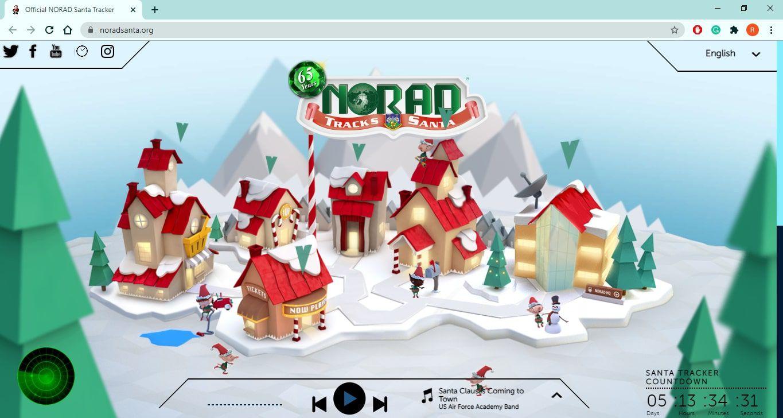 NORAD Santa Tracker website