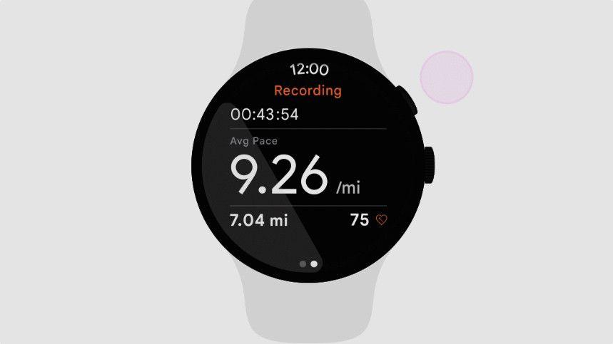 Wear OS render on smartwatch