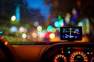 GPS on car's dashboard
