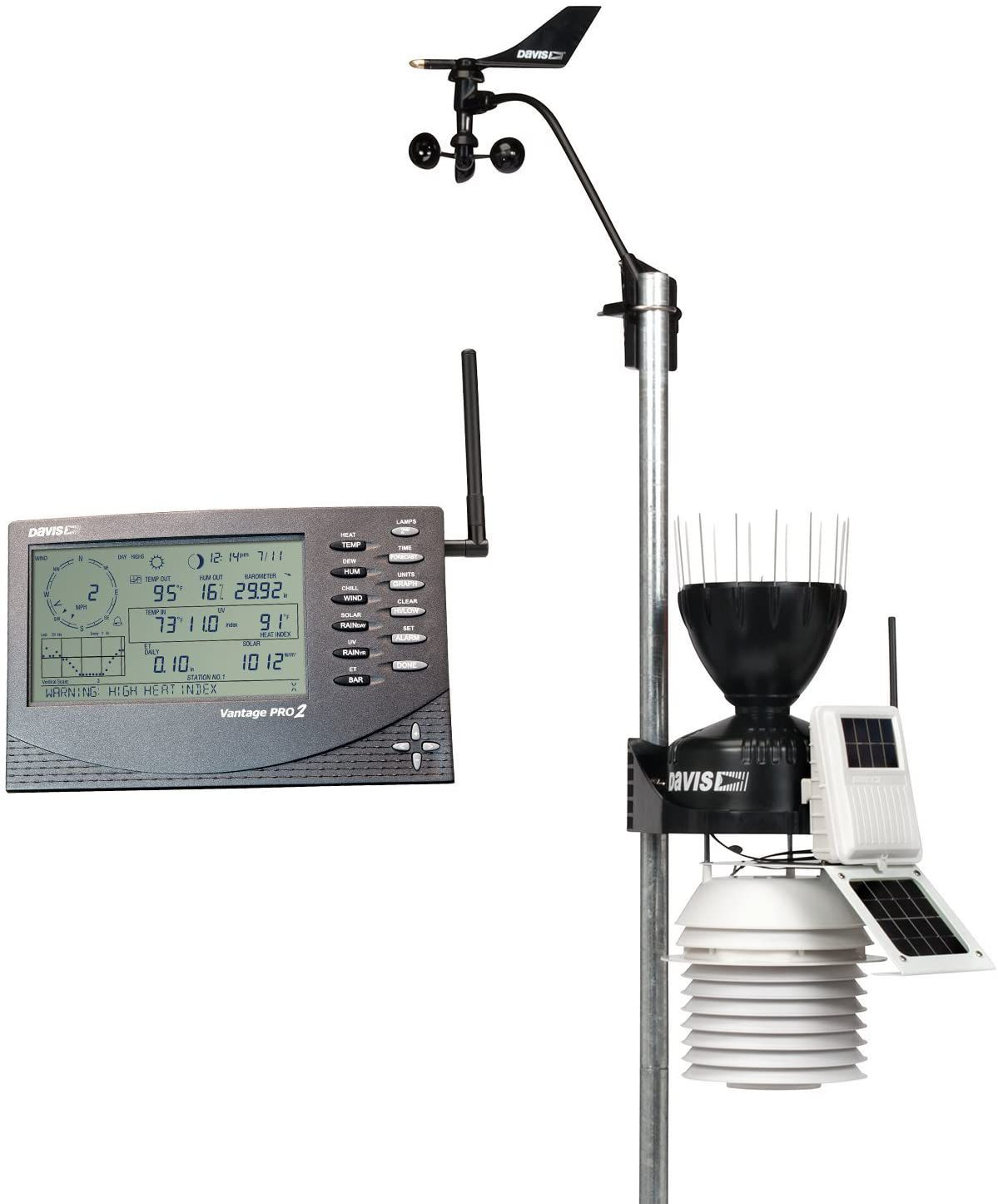 The Davis Instruments 6153 Vantage Pro2 will tell you the weather.