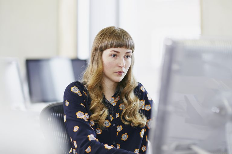 person at computer