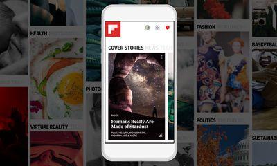 The Flipboard app on a smartphone