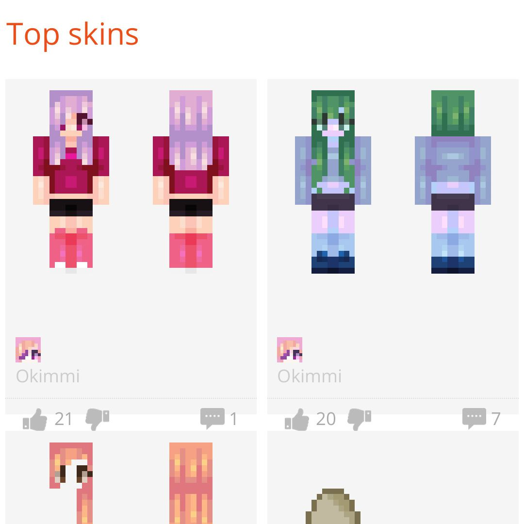 download minecraft pe skins
