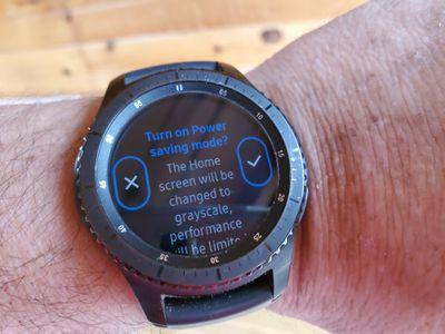 Galaxy watch prompting to enter power saving mode