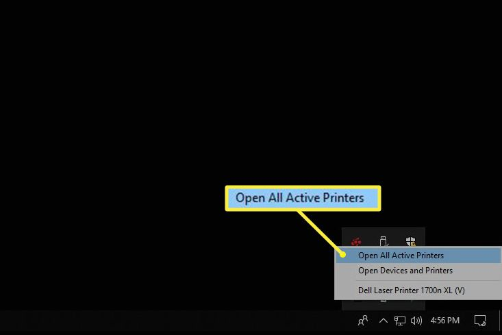 Open All Active Printers