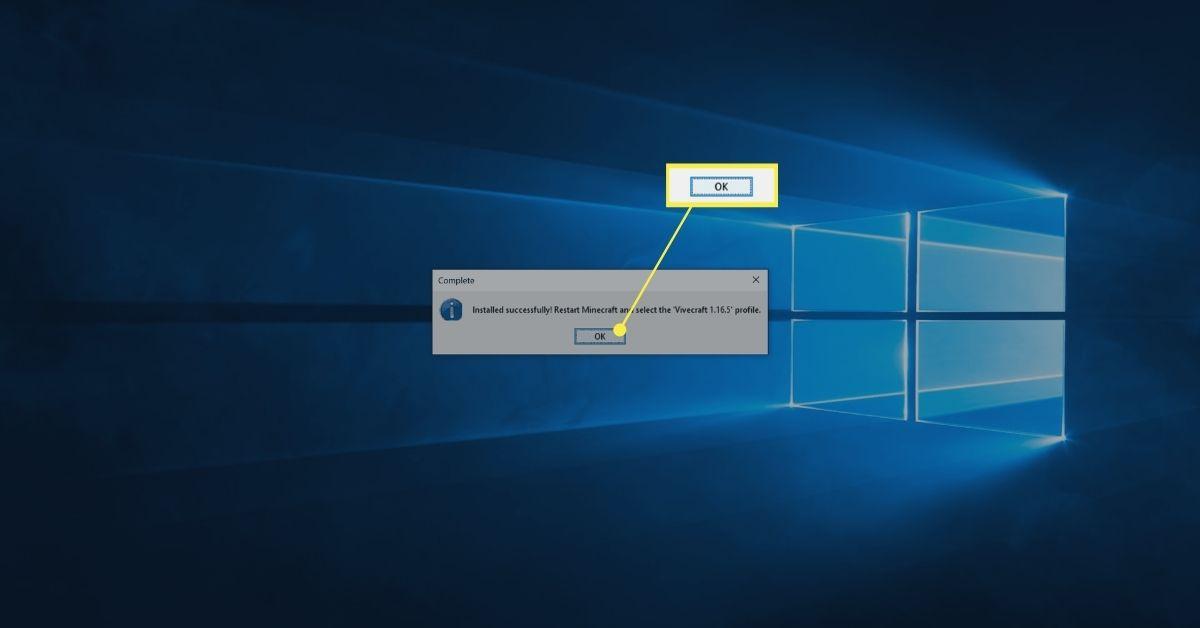 Ok the Vivecraft installer confirmation window.