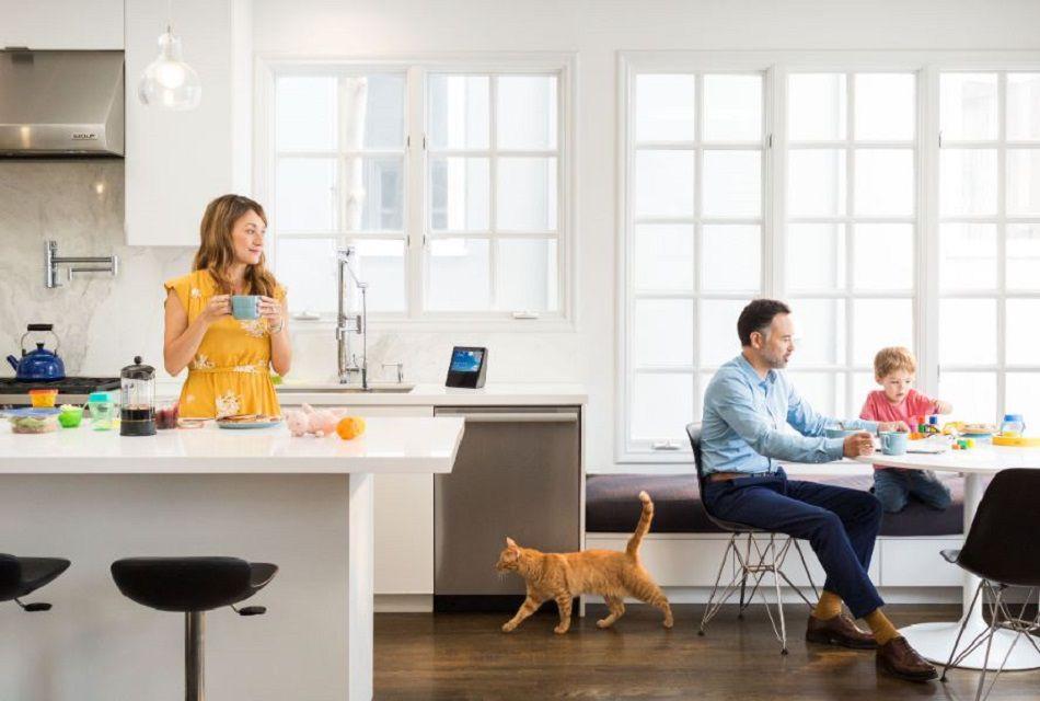 Echo Show in a kitchen