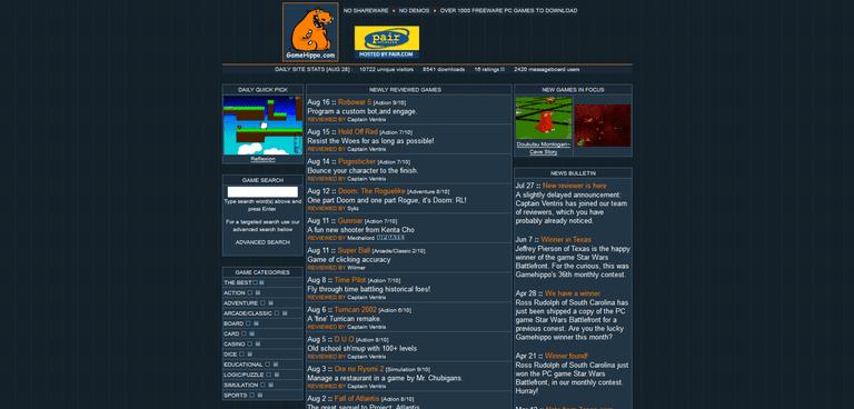 GameHippo Site (archive.org)