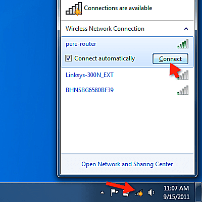 Connect to available wireless networks.
