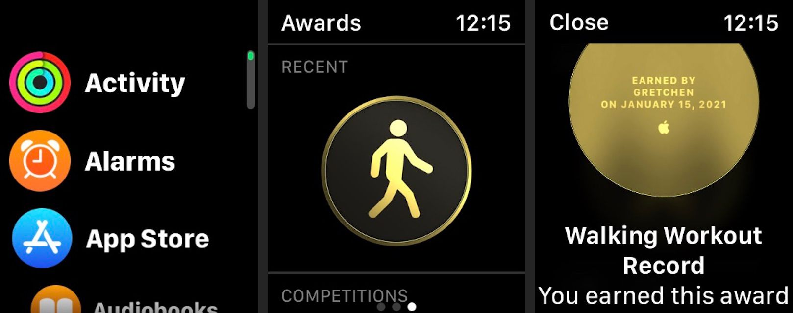 View your Apple Watch Activity app awards