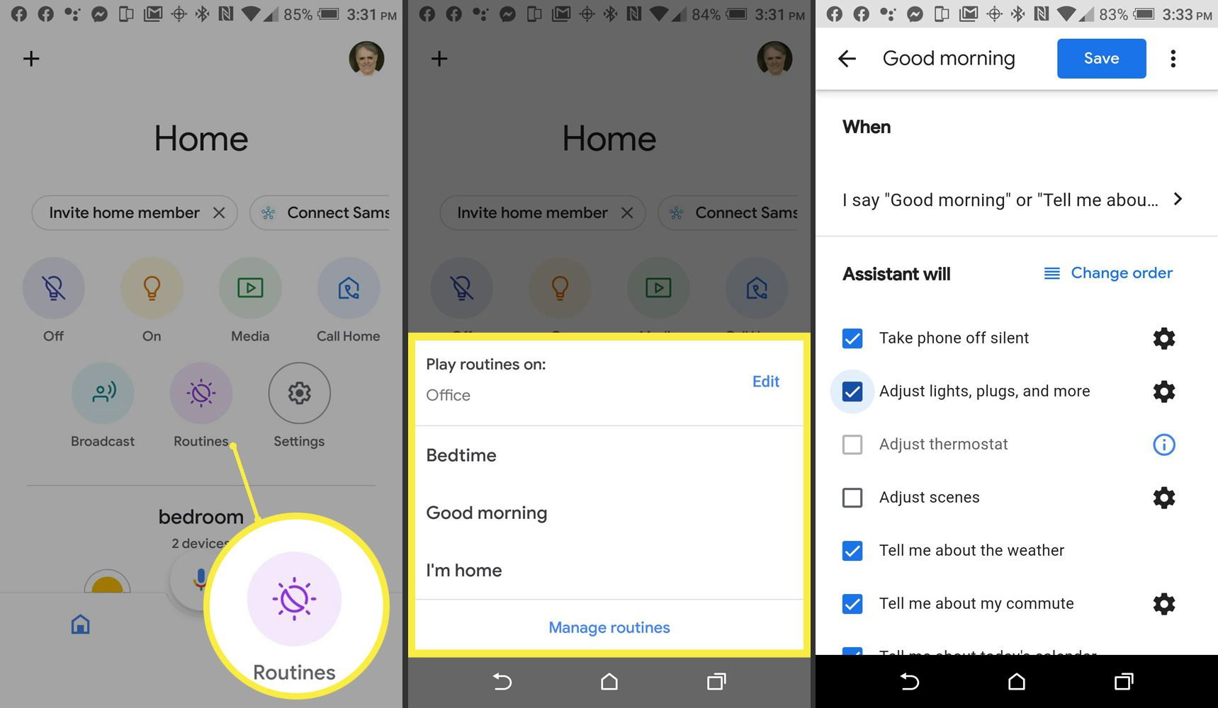 Google Home – Routines Example