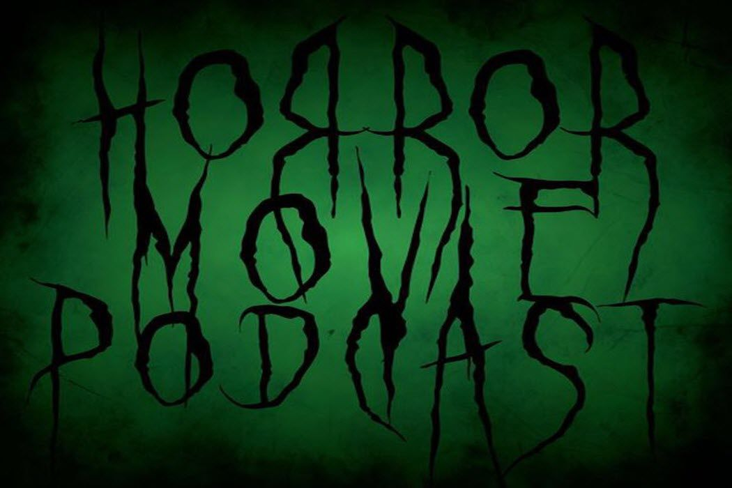 The logo from the 'Horror Movie Podcast.'