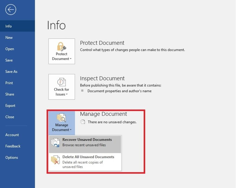 microsoft word recover unsaved document ipad
