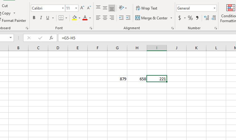 Basic math in Excel