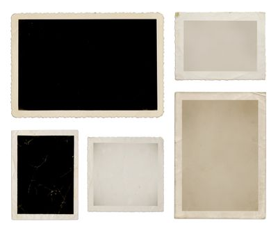 Various photo collection in black, tan, and white
