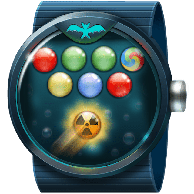 Bubble Shooter Wear OS game for smartwatches