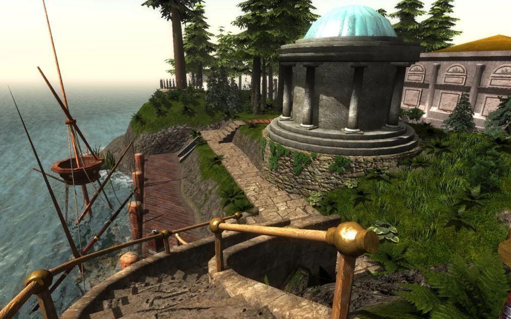 Screenshot of the game 'Myst'
