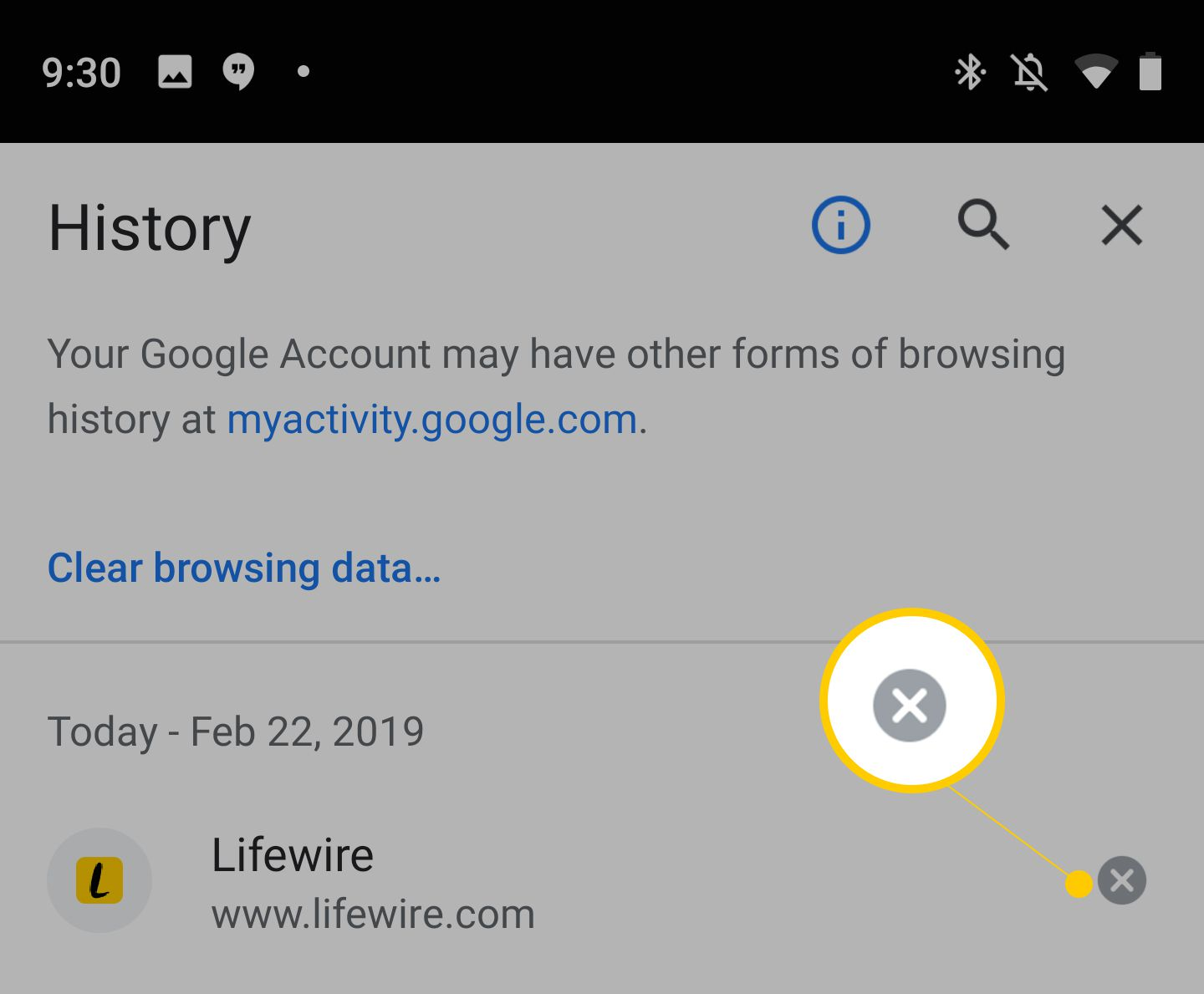 clear google account android phone