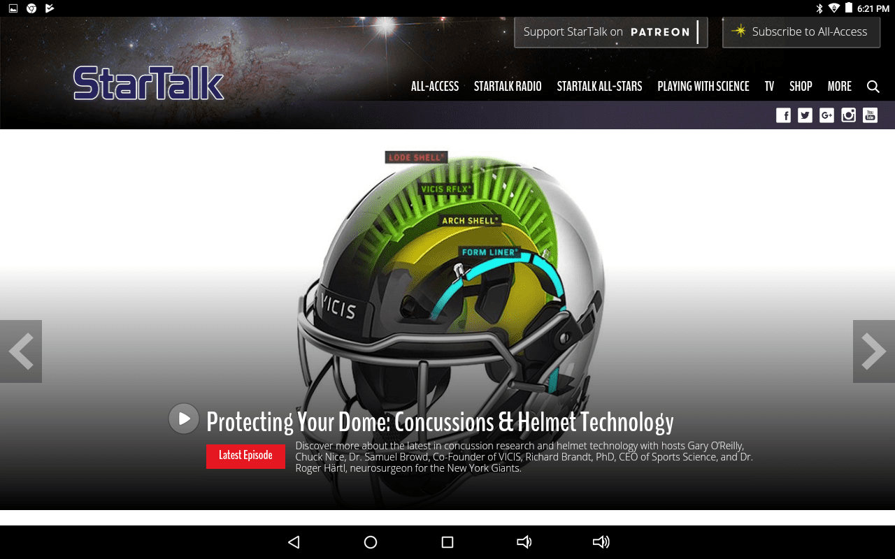 StarTalk podcast home page
